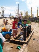 園庭足洗い場の設置(秋田チャイルド園・平成20年度助成)