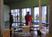 秋田ノーザンハピネッツの試合会場で募金活動を行いました!!!!!